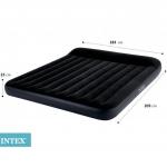 Intex 64144 трехместный надувной матрас 183х203х25см
