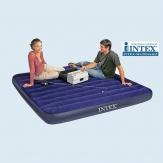 Intex 68755 трёхместный надувной матрас 183х203х22см